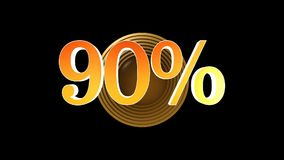 90 procent bonus vektor illustrationer