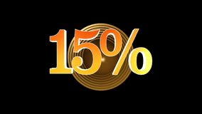 15 procent bonus stock video