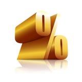 procent för symbol 3D Arkivfoto