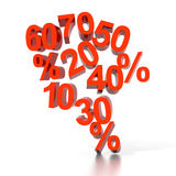 procent försäljning Royaltyfria Bilder