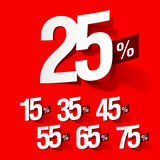 procent försäljning Arkivbild