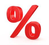 procent försäljningstecken Arkivbild