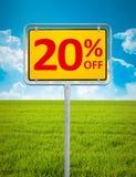 20 procent försäljning Arkivbilder