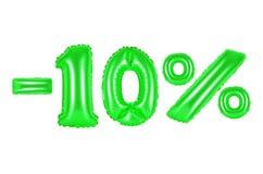 10 procent, grön färg Royaltyfri Fotografi
