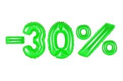 30 procent, grön färg Fotografering för Bildbyråer