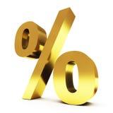 procent guld Arkivfoto