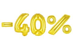 40 procent, guld- färg Arkivfoto