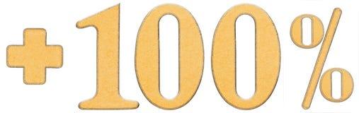 Procent korzyści plus 100 sto procent, liczebniki odizolowywają Fotografia Royalty Free