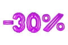 30 procent, lilafärg Arkivbilder