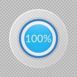100 procent pajdiagram på genomskinlig bakgrund Infographic symbol för procentsatsvektor för affären, finans, design Royaltyfri Fotografi