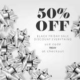 50 procent pris av advertizingreklambladet och kupong royaltyfri illustrationer