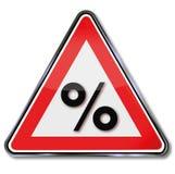 Procent, procentsatser och vinst stock illustrationer