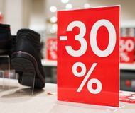 30 procent rabatt Arkivfoton