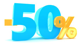 50 procent rabatt Royaltyfria Foton