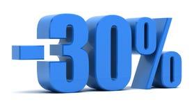 30 procent rabatt royaltyfri illustrationer