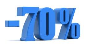 70 procent rabatt vektor illustrationer