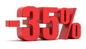 35 procent rabatt vektor illustrationer