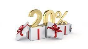 20 procent rabatt Arkivfoton
