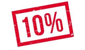 10 procent rubber stämpel Arkivfoto