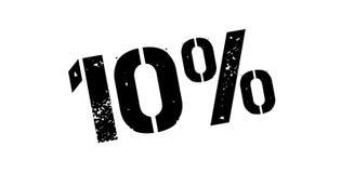 10 procent rubber stämpel Royaltyfria Foton