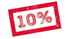 10 procent rubber stämpel Royaltyfri Bild