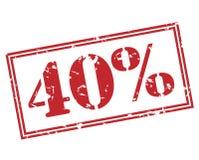 40 procent stämpel på vit bakgrund Arkivbilder