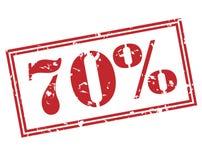 70 procent stämpel på vit bakgrund Royaltyfria Bilder