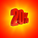 20 procent tecken Arkivbilder
