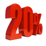 20 procent tecken Royaltyfri Bild