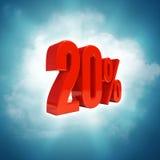 20 procent tecken Royaltyfria Foton