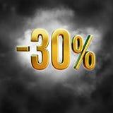 30 procent tecken Royaltyfri Bild