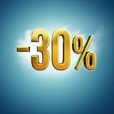 30 procent tecken Fotografering för Bildbyråer