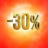 30 procent tecken Arkivbilder