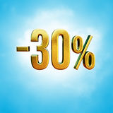 30 procent tecken Arkivfoto