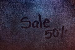 procent tecken för försäljning 50 Royaltyfri Foto