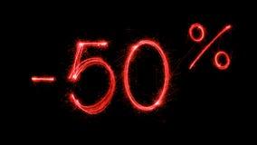 Procent varm försäljning 50 av Royaltyfria Foton