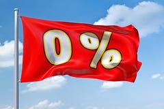 procent zero Fotografia Stock