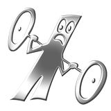 procentowy skosu symbol srebra Fotografia Royalty Free