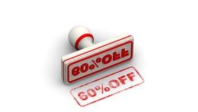 60 procentsats av Stämpeln lämnar en avtryck stock video