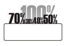 procentsats för tillväxt 4 vektor illustrationer