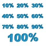 procentsatser 3d stock illustrationer