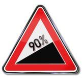 90 procentsatser förhöjning stock illustrationer