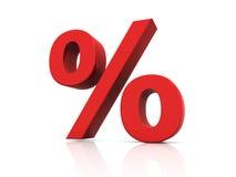 procentsatstecken Royaltyfria Foton