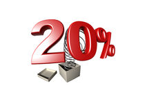 procentsatstecken Arkivfoton