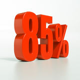 Procentsatstecken, 85 procent Royaltyfri Foto