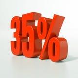 Procentsatstecken, 35 procent Royaltyfria Foton