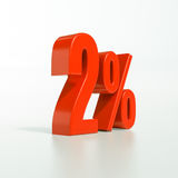 Procentsatstecken, 2 procent Arkivfoto