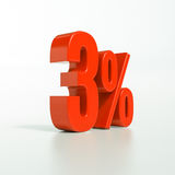 Procentsatstecken, 3 procent Arkivfoton
