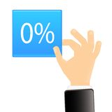 procentsymbol Arkivbild