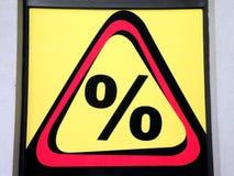 procenttecken Arkivfoto